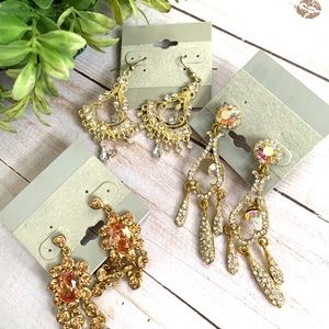 3 pairs earrings Not so mystery lot Brand New Save